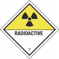 Gefahrzettel für radioaktive Stoffe der Klasse 7