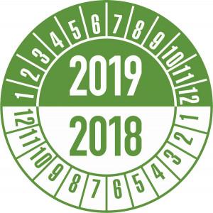Standard-Prüfplakette Jahre:14-15, Monatsang. grün-weiß, schwarz-weiß,rot-weiß