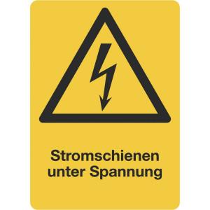Stromschienen unter Spannung