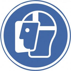 Gesichtsschutzschild benutzen