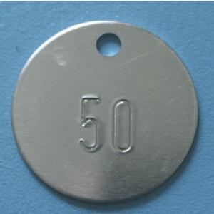 Kennzeichnungsmarke aus Aluminium mit fortlaufender Nummerierung