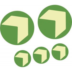 Bodenmarkierungspfeil/Ronde mit Richtungspfeil, grün/langnachleuchtend, selbstklebend mit Anti-Rutsch-Effekt