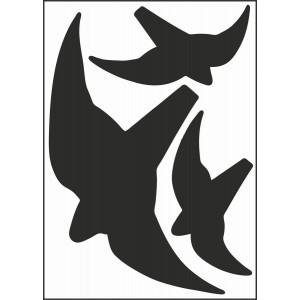 Vogeldarstellung für Glasflächen
