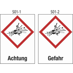 Achtung explosive Stoffe