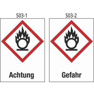 Achtung entzündend (oxidierend) wirkende Stoffe