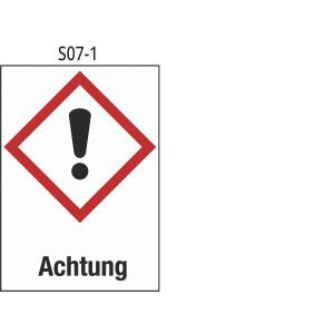 Achtung, Akute Toxizität, Reizung der Haut; Augenreizung, Sensibilisierung der Haut, Spezifische Zielorgan- Toxizität
