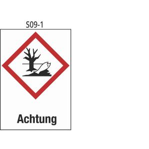 Achtung, Gewässergefährdend