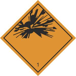 Explosive Stoffe und Gegenstände mit Explosivstoff